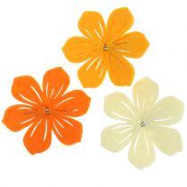 Flor de fieltro en el clip 7cm 24pcs