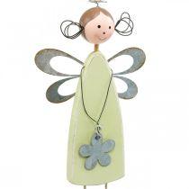 Hada de las flores con patas de árbol, primavera, pequeños duendes con flor, colgante de decoración elfo de flores 3 piezas