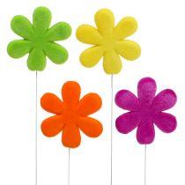 Tapón flor flor flocado Ø8,5cm 8pcs