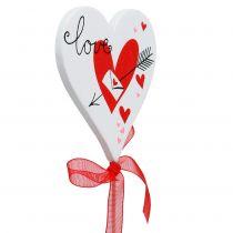 Flower plug corazón blanco con lazo 7cm 12pcs
