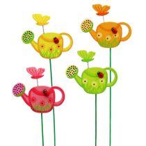 Enchufe de flor regadera colorida decoración de primavera de enchufe de jardín 16 piezas