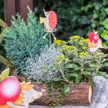 Alfiler de flor erizo, decoración de madera, figura de otoño H9.5cm L32cm 12pcs
