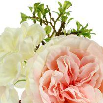 Ramo mini crema rosa 20cm