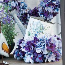 Maceta regadera hortensia decoración de jardín jardinera metal 15cm