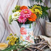 Jardinera decorativa jarra de metal jardinera vintage para decoración de jardín Al 23cm