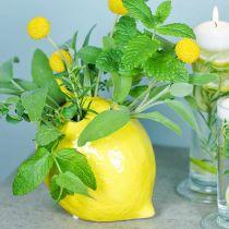 Florero decoración florero limón cerámica verano decoración H11.5cm