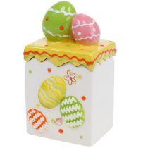 Caja de caramelos Pascua amarilla 13.5cm