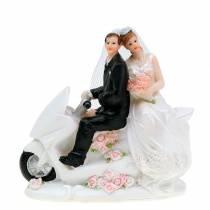 Figura de novias en moto 12cm