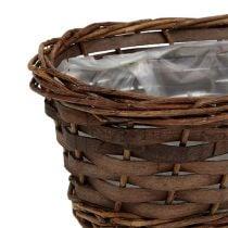 Cesta de pan ovalada sin pelar 25cm H9cm