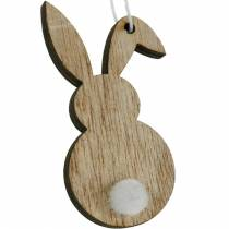 Conejito de Pascua colorido percha madera Pascua decoración 12 piezas