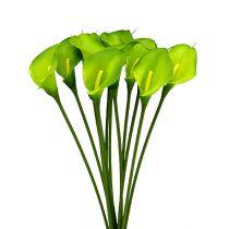 Calla verde artificial 8cm L57cm 12pcs