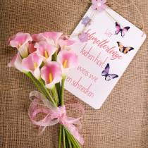 Calla deco flor rosa 57cm 12pcs