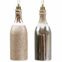 Botella de champán para colgar oro claro 10 piezas