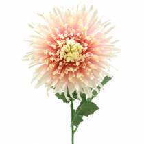 Crisantemo flor rama rosa artificial 64cm
