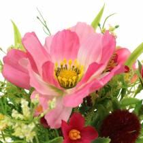 Ramo decorativo Cosmea y bola de nieve en racimo Artificialmente clasificado H18cm rosa