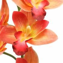 Orquídea flor artificial Cymbidium Naranja 74cm