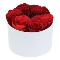 Caja de flores caja de flores blanco redondo Ø14cm - Ø16cm 2pcs