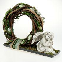 Figura conmemorativa ángel durmiente gris 16cm 2pcs