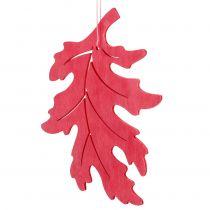 Hojas decorativas de madera para colgar coloreadas 12cm 9pcs