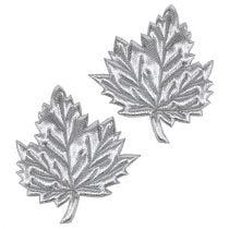 Hojas decorativas de seda 5cm plata 60pcs