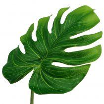 Hoja decorativa Philoblatt verde B11cm L29,5cm 3pcs
