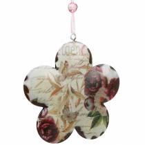 Flor decorativa para colgar peonías nostálgico metal primavera decoración 4pcs