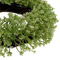 Guirnalda decorativa verde Ø25cm