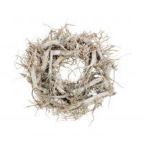 Corona decorativa naturaleza, gris Ø35cm 1p