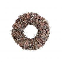 Corona decorativa naturaleza Ø25cm blanqueada
