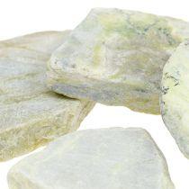 Piedras decorativas mosaico verde grisáceo mate 3cm - 8cm 1kg