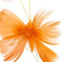 Mariposas en tonos naranjas, decoración de primavera, mariposas de primavera en un alambre 6 piezas