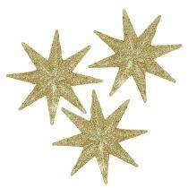 Estrellas decorativas oro Ø5cm 20pcs