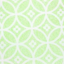 Mesa decorativa con flores verde claro 30cm x 300cm