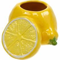 Olla decorativa jarrón de limón cítricos decoración de verano de cerámica
