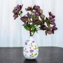 Florero decorativo blanco floral Ø9cm H13.8cm