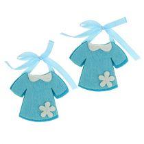 Vestido de fieltro de guardería azul 7cm 20pcs