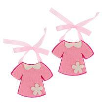 Vestido de fieltro para guardería rosa 7cm 20pcs