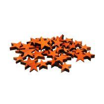 Las estrellas de madera mezclan naranja para esparcir 3-5cm 72pcs
