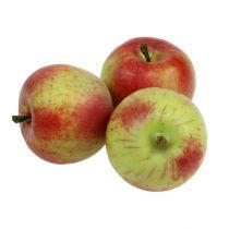 Manzana decorativa roja, verde Ø6cm 6uds