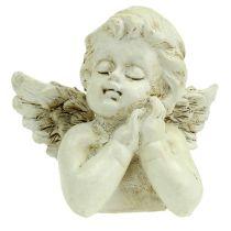 Ángel decorativo rezando crema 9cm 8pcs