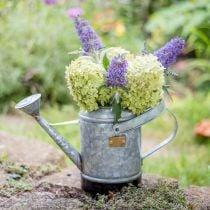 Regadera decorativa jardinera de metal cesta colgante aspecto antiguo 40 × 18 × 22cm