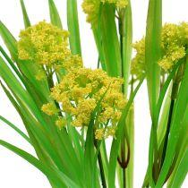 Deco hierba con flores amarillas, verdes L30cm
