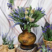 Jarra decorativa jarrón de aspecto antiguo decoración de jardín de metal vintage Al.26cm