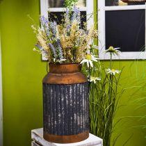 Jarra de leche decorativa jardinera de metal con aspecto vintage, decoración de jardín Al 35cm