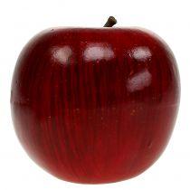 Manzanas decorativas rojas, lacadas Ø8cm 6ud