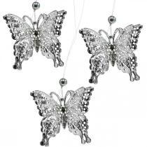 Mariposa colgante decorativa, decoración de boda, mariposa de metal, resorte 6pcs