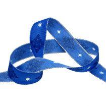 Cinta de regalo para la decoración azul con patrón 25mm 20m