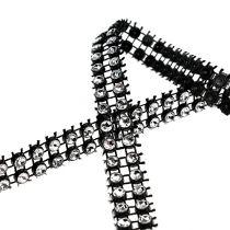 Cinta decorativa negra, plata 10mm 4m