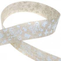 Cinta decorativa con mariposas marrón 25mm cinta de tela cinta regalo 20m