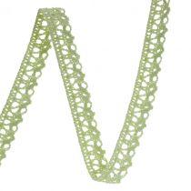 Cinta de regalo para la decoración crochet lace verde 12mm 20m